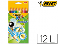 12 Lápices acuarelables Bic Kids Aqua Couleur