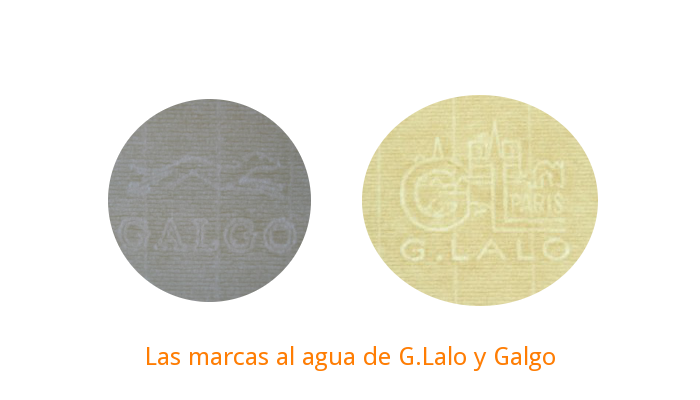 Marcas al agua de Galgo y G.Lalo