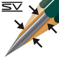 Detalle del encolado SV de Faber-Castell