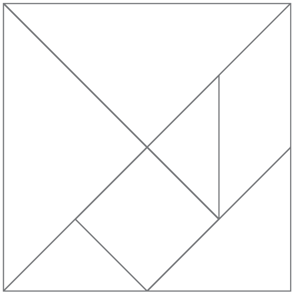 Plantilla para tangram