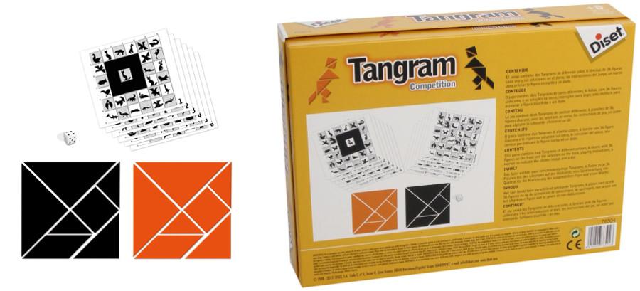 Tangram Doble plástico duro
