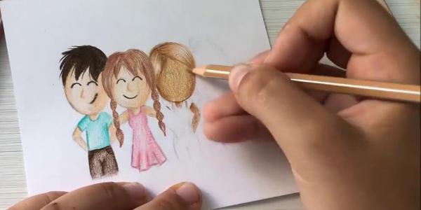 lápices colores carne