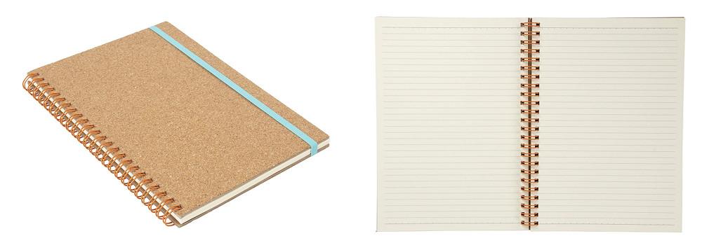 Cuadernos bonitos de corcho con cierre elástico
