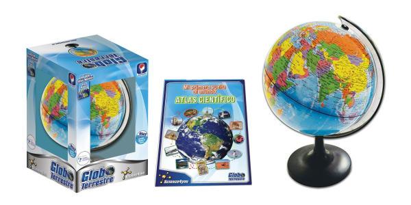 globos terráqueos interactivos con atlas
