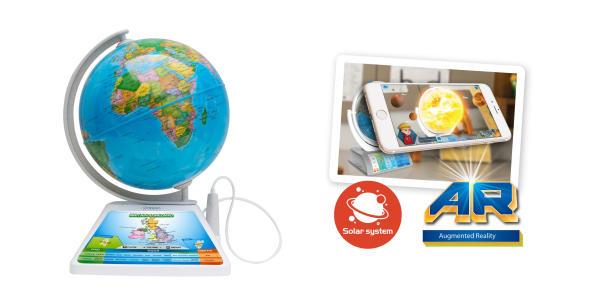 globo terráqueo interactivo con lápiz óptico