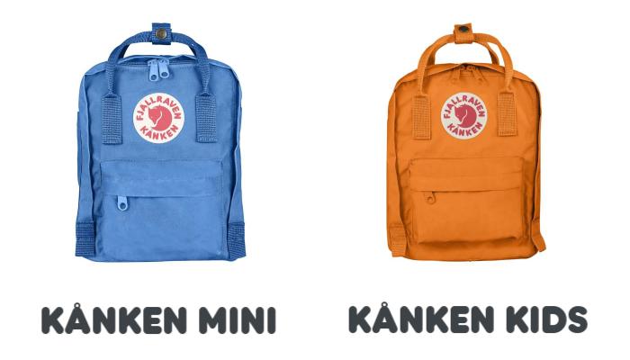 Diferencia Kanken Mini y Kanken Kids