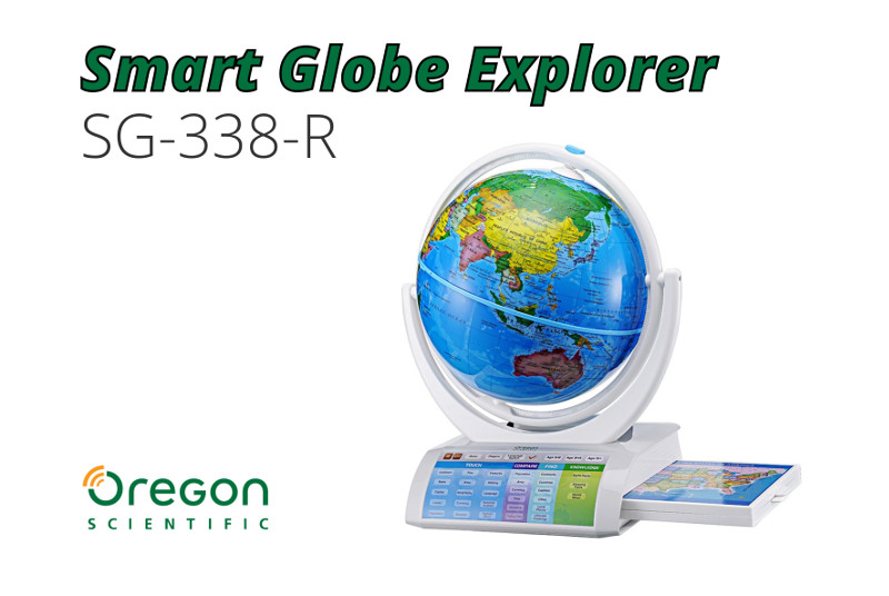 globo interactivo oregon scientific smart globe explorer sg-338-r