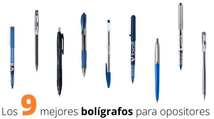 mejores bolígrafos para opositores