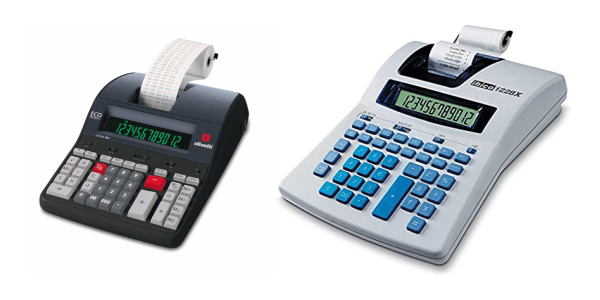 Tipos de calculadoras con impresora