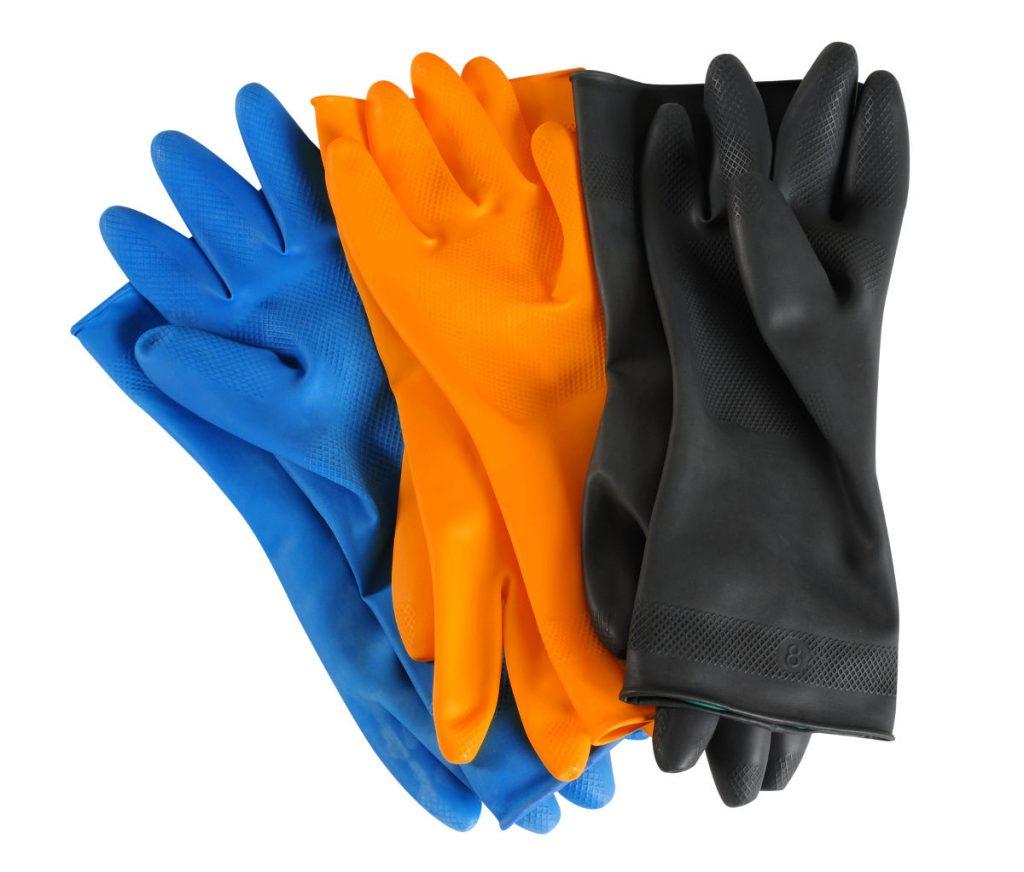 guantes de trabajo de goma