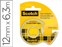 Cinta doble cara en dispensador Scotch 3M 6x12