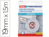 Cinta doble cara Tesa PowerBond 1.5m × 19mm