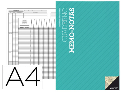Cuaderno notas memo additio Din A4