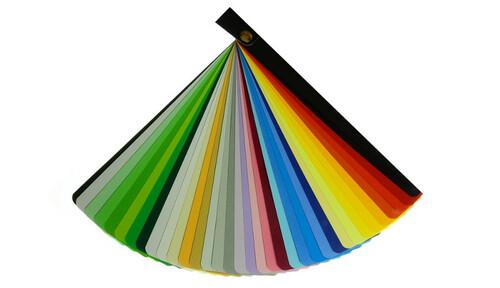 Carta de colores de cartulina escolar