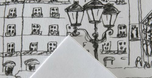 Textura del papel Canson Bristol XL