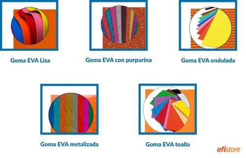 Tipos de goma EVA