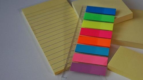 Tipos de notas Post-It
