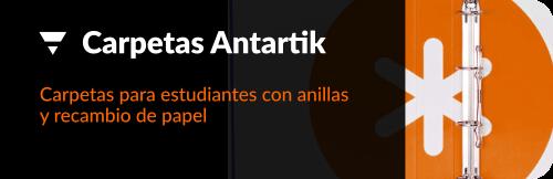Carpetas Antartik de anillas para uso escolar