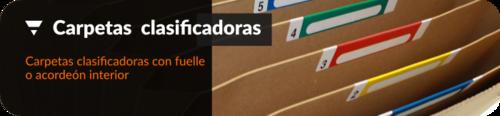 Carpetas clasificadoras fuelle