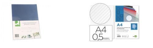 Tapas para encuadernar transparentes o rayadas