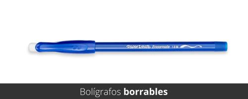 Bolígrafos borrables