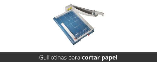Guillotina de papel con base metálica y cuchilla autoafilable