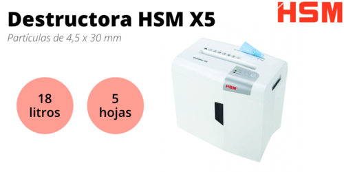 Destructora HSM Shredstar X5