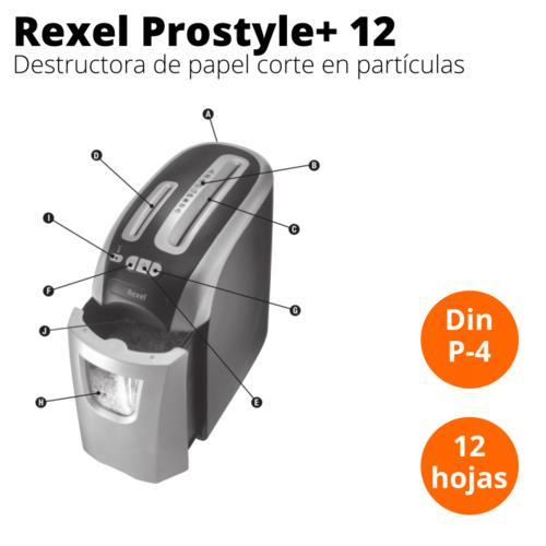 destructora rexel prostyle+12