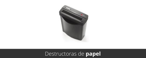Destructoras de papel