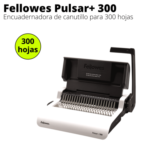Encuadernadora de canutillo Fellowes Pulsar 300
