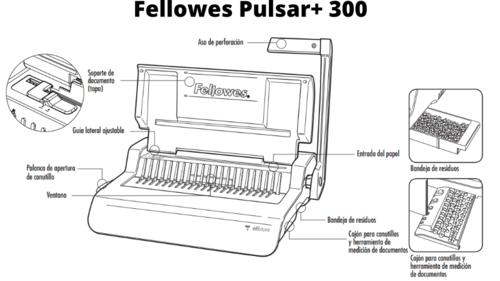 Fellowes Pulsar Encuadernadora Canutillo