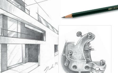 Dibujos hechos con lápices de grafito Faber 9000