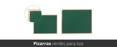 Pizarras verdes para usar con tiza