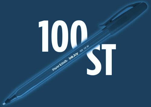 Bolígrafo Papermate InkJoy 100ST con capuchón