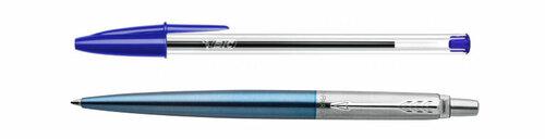 Bolígrafos BIC Cristal y recambiable Parker Jotter base aceite