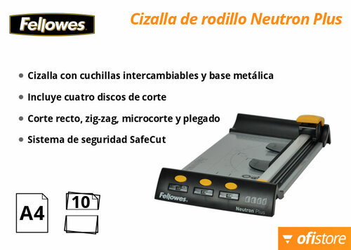 Cizalla de papel Fellowes Neutron Plus A4