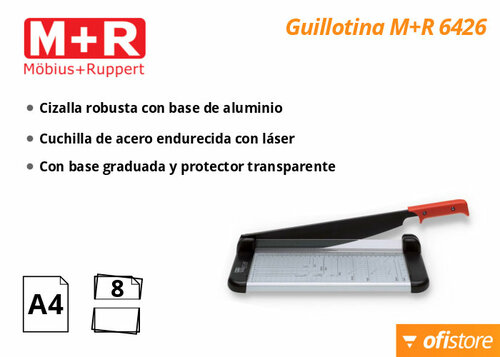 Guillotina de palanca Mobius Ruppert 6426 para cortar fotografías
