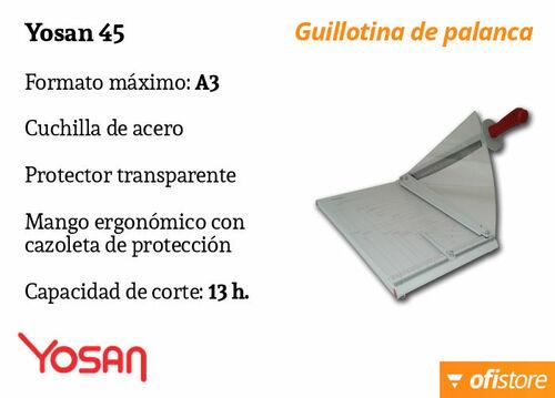 Guillotina de papel profesional Yosan 45