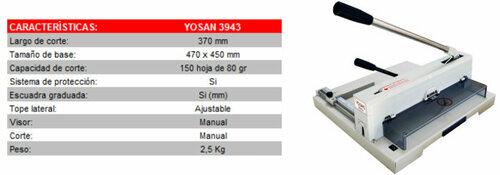 Guillotina de papel industrial Yosan 3943