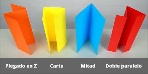 Tipos de plegado de papel (plegadoras)
