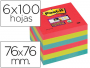 76x76 Post-It cuadrado Bora Bora con adhesivo SuperSticky