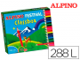 Lápices de colores Alpino Festival Classbox con 288 lápices