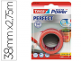 Cinta textil adhesiva Tesa Perfect Extra Power de color rojo