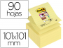 Notas Post-It® color amarillo canario - Rayadas - 10x10 cm