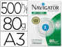 Navigator A3 ᐅ Papel Din A3 80 gramos | 297x420 mm | %p