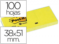 Notas adhesivas de papel reciclado, Post-It 653-1, 38x51