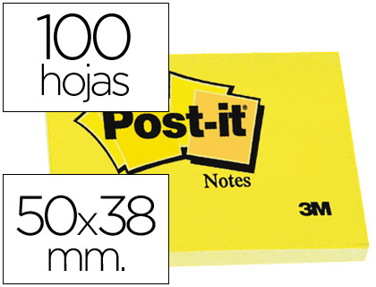 Taco Notas Post-It amarillas 38x51, 12 tacos
