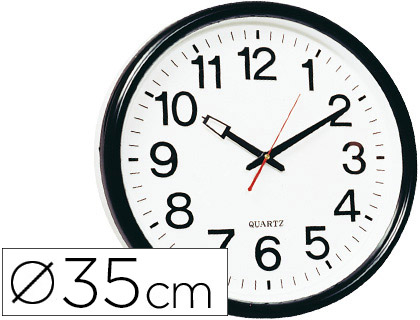 98ff8798025e Reloj grande de pared negro sobree blanco ¡Mecanismo de cuarzo!