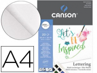 Papel de dibujo multitecnicas Canson lettering mix media