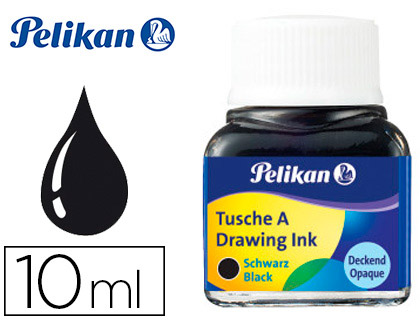 Tinta china negra Pelikan, frasco 10 ml
